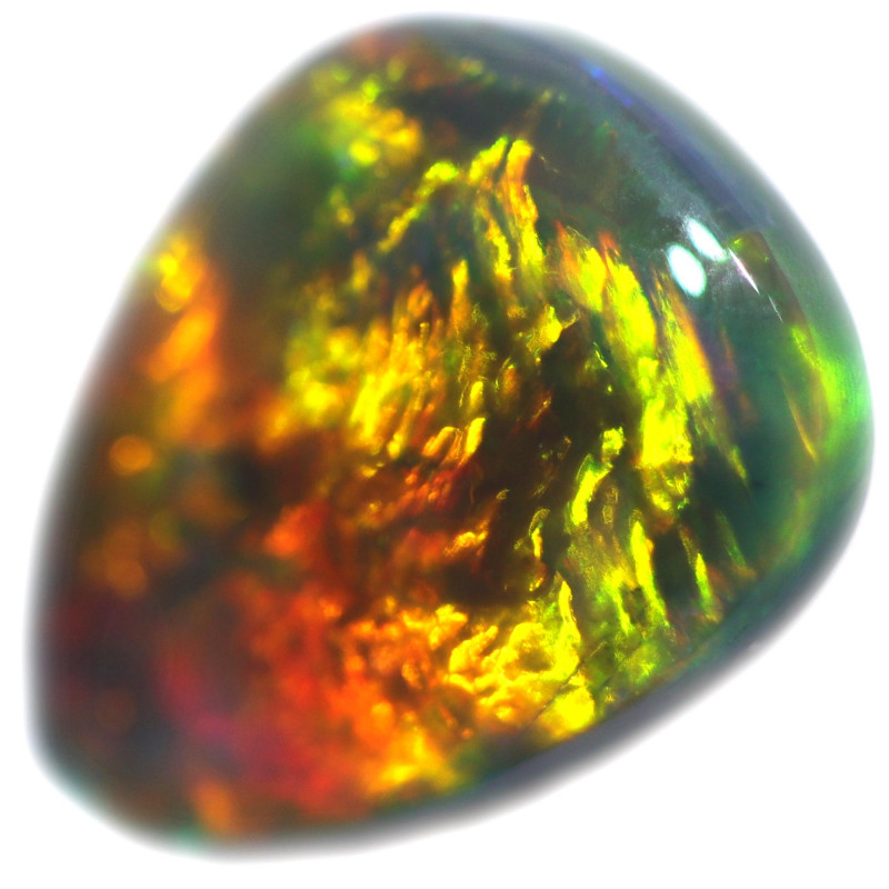 0.85 CTS BLACK OPAL STONE-FROM  OLD COLLECTION- [LROG788]