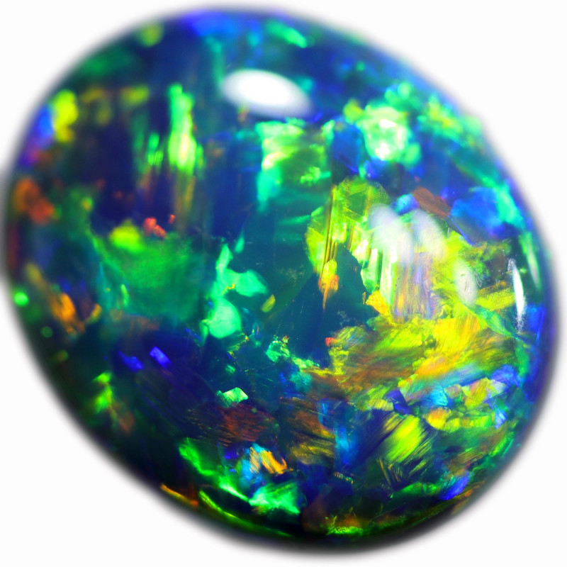 3.693 CTS BLACK OPAL STONE-FROM  OLD COLLECTION- [LROK18FR]