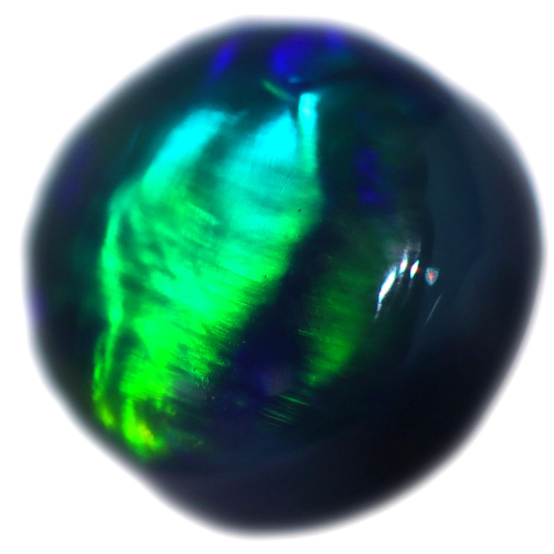 0.37 CTS BLACK OPAL STONE-FROM  OLD COLLECTION- [LROG803]