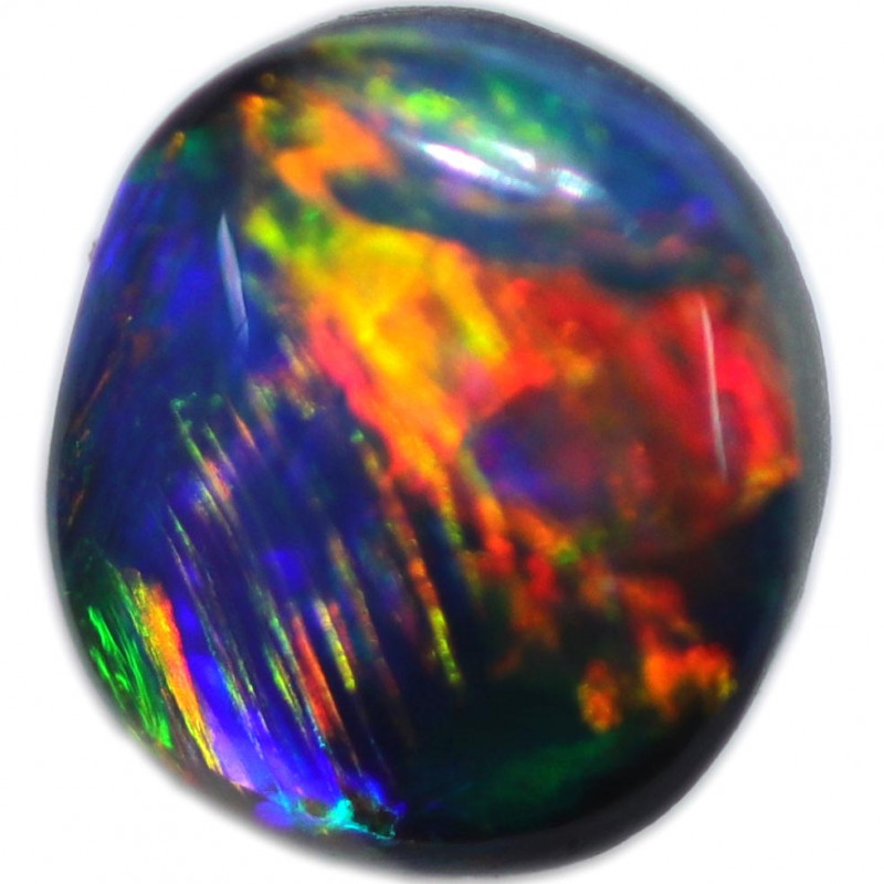 0.60 CTS BLACK OPAL STONE-FROM  OLD COLLECTION-5LROG807]