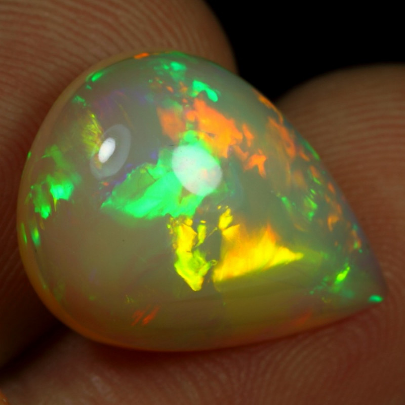11.30cts Broad Chaff Neon Fire Natural Ethiopian Welo Opal
