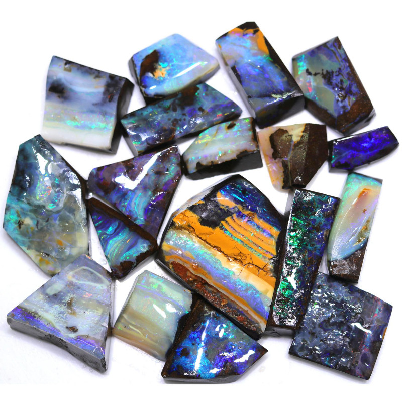 1200.00 Cts Parcel Boulder rubs Quilpie Opal Fields WS 1746