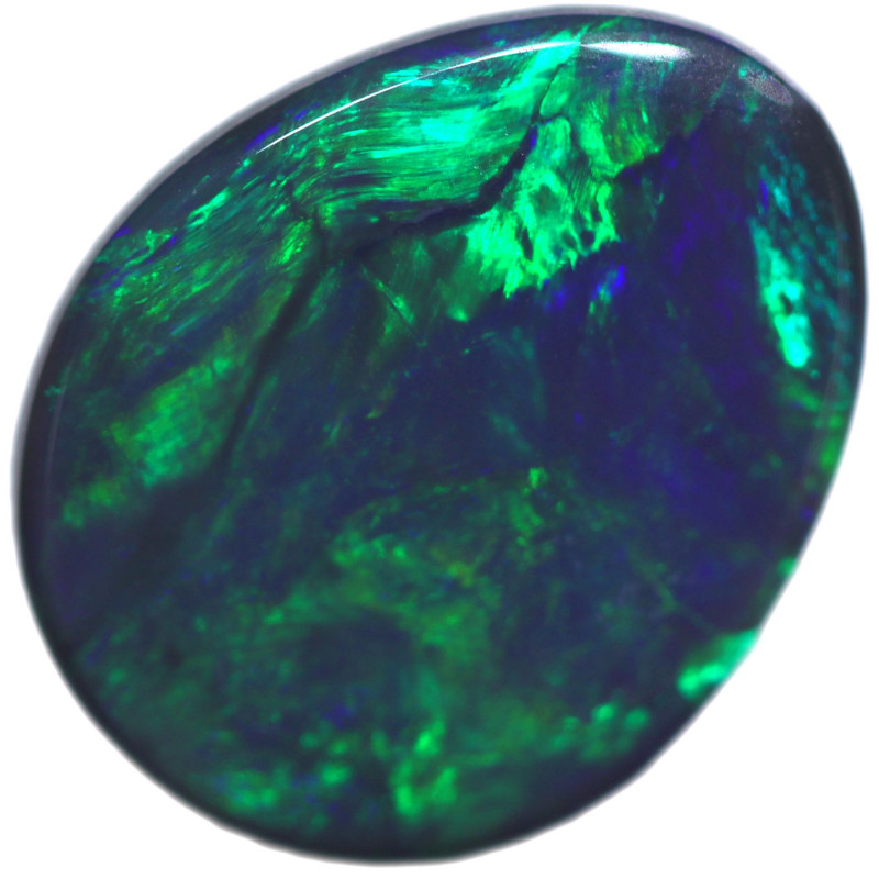 1.36 CTS BLACK OPAL STONE-FROM  OLD COLLECTION- [LROG831]