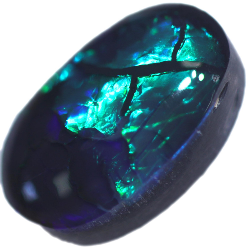1.62 CTS BLACK OPAL STONE-FROM  OLD COLLECTION- [LROG840]
