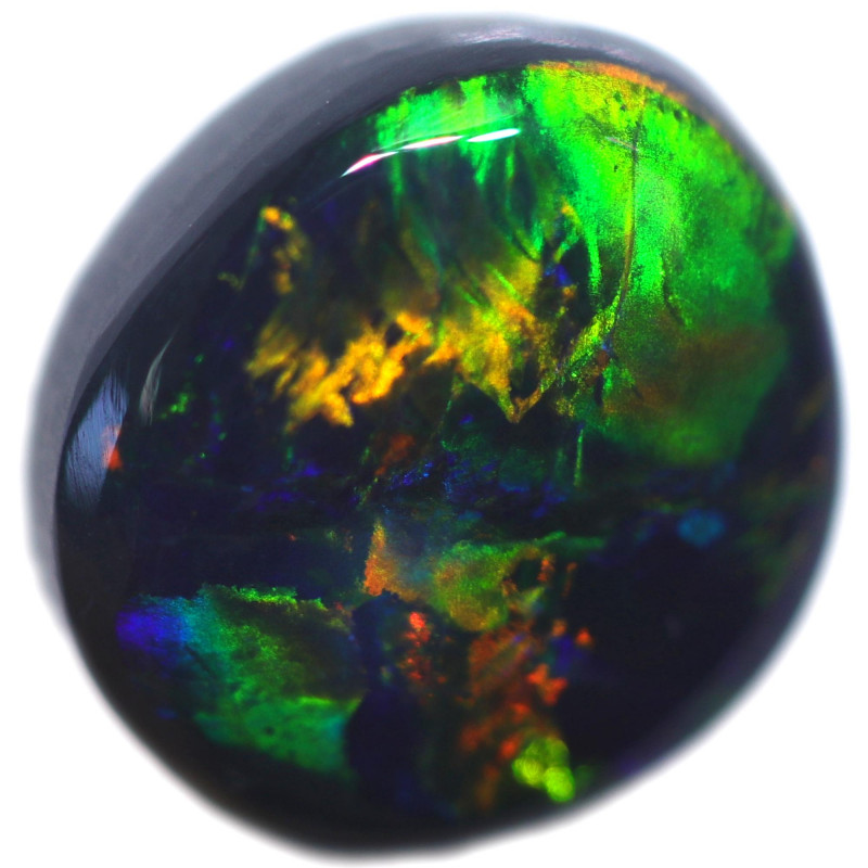 1.35 CTS BLACK OPAL STONE-FROM  OLD COLLECTION- [LROG847]