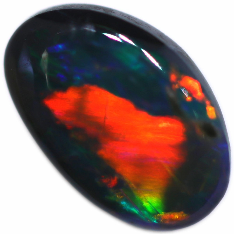 0.38 CTS BLACK OPAL STONE-FROM  OLD COLLECTION- [LROG851]