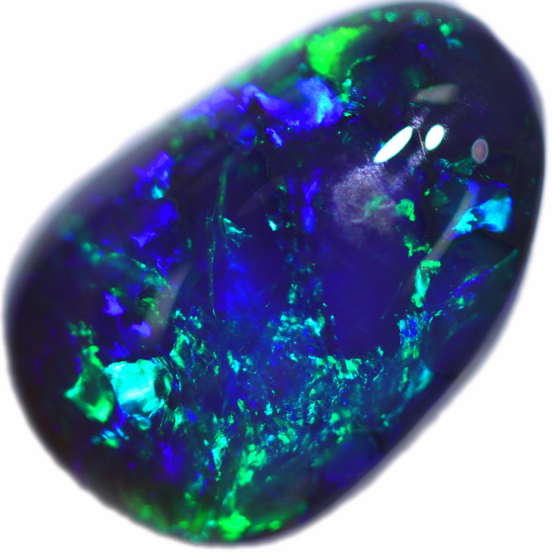 1.60 CTS BLACK OPAL STONE-FROM  OLD COLLECTION- [LROG866]