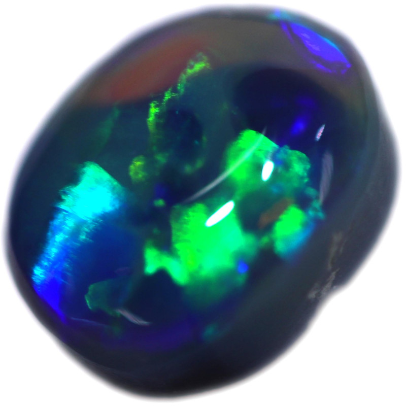 0.93 CTS BLACK OPAL STONE-FROM  OLD COLLECTION- [LROG871]