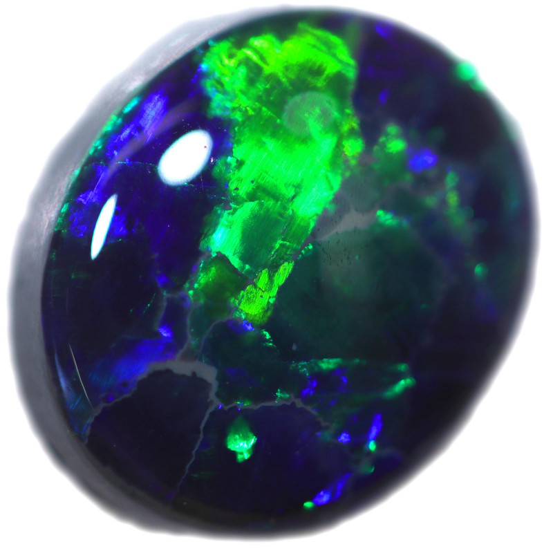 2.39 CTS BLACK OPAL STONE-FROM  OLD COLLECTION- [LROG876]
