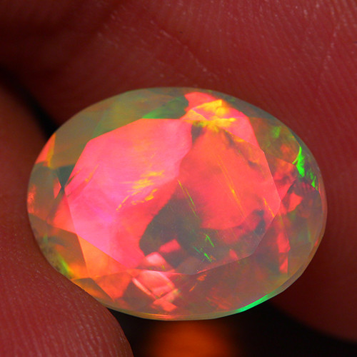 5.13 CT 14X11MM  Extra Fine Quality Faceted Cut Ethiopian Opal -DF191