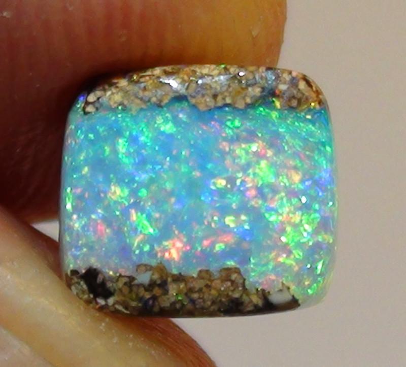 1.95 ct Gem Blue Green Queensland Boulder Opal Pipe