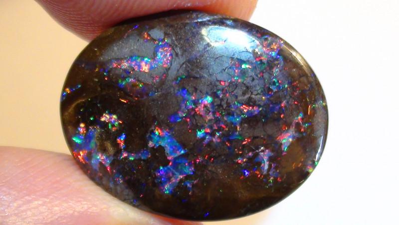 14.30 ct Stunning Koroit Boulder Opal Matrix With Gem Multi Color *