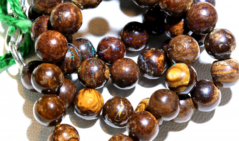 162 CTS BOULDER OPAL BEADS  STRANDS TBO-10019