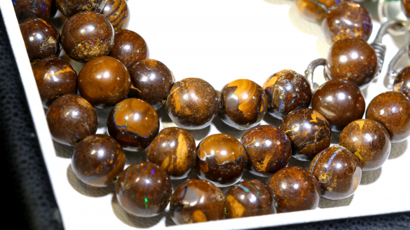 185CTS BOULDER OPAL BEADS  STRANDS TBO-10022
