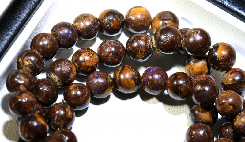156- CTS BOULDER OPAL BEADS  STRANDS TBO-10025