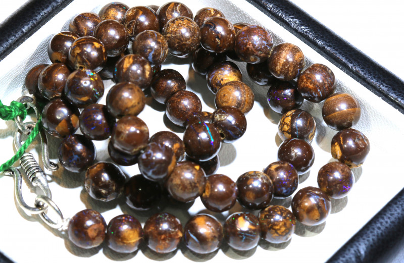 160- CTS BOULDER OPAL BEADS  STRANDS TBO-10026