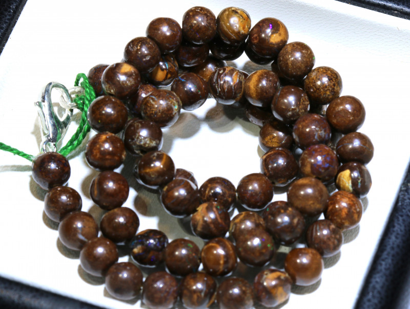 132.50- CTS BOULDER OPAL BEADS  STRANDS TBO-10027