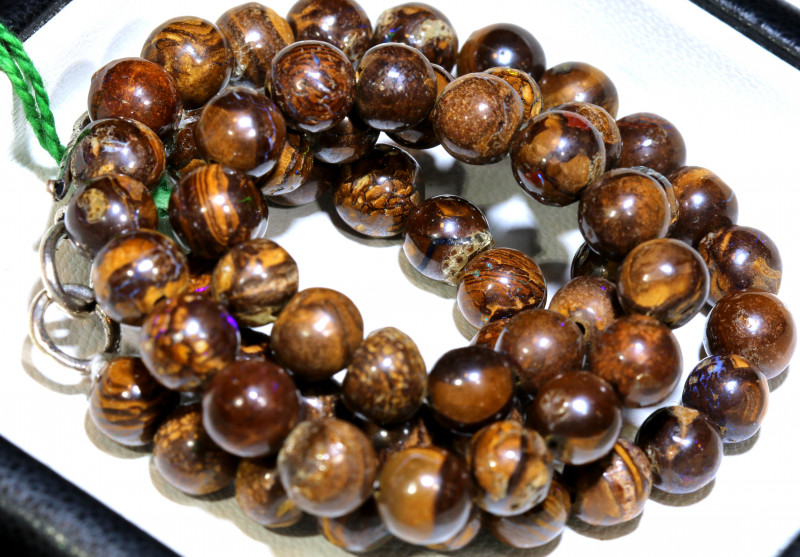 150- CTS BOULDER OPAL BEADS  STRANDS TBO-10028