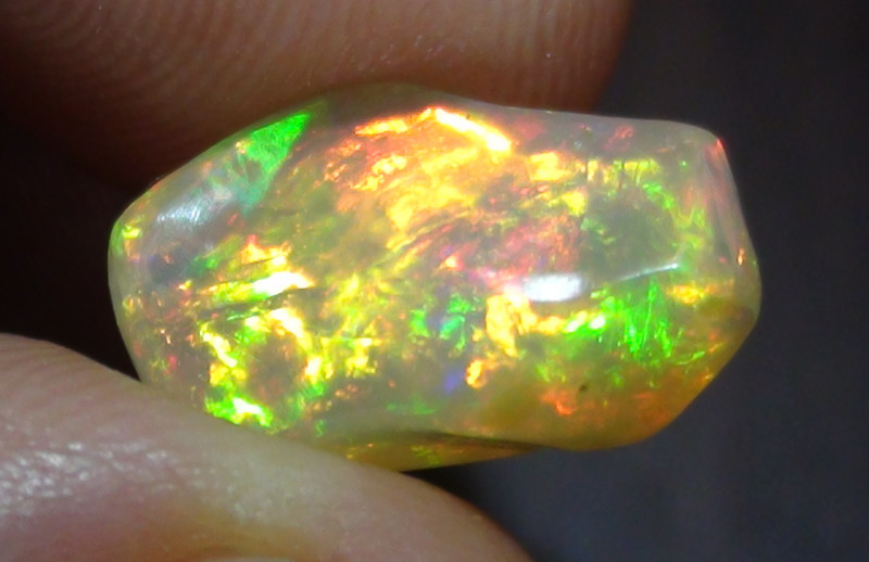 5.35 ct Ethiopian Gem Color Carved Free Form Welo Opal