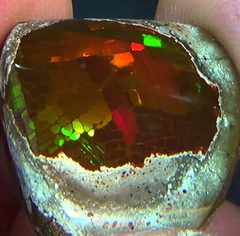 53.60 cts Ethiopian Mezezo PUZZLE HONEYCOMB dark polished opal N3 4,5/5