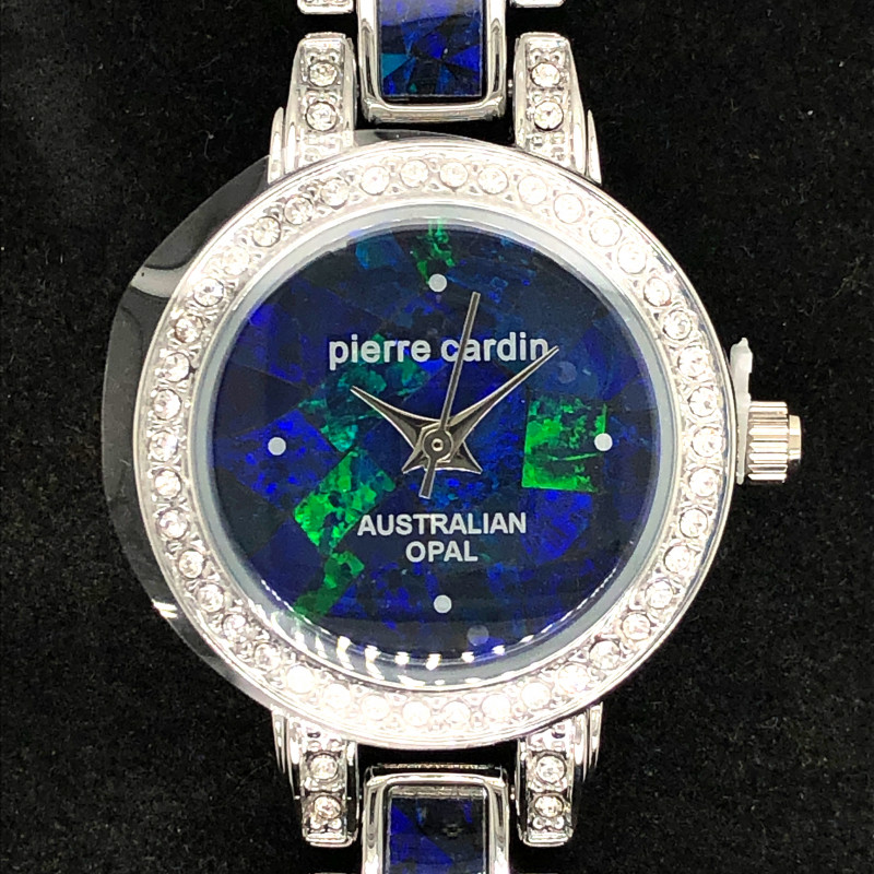 Original Ladies Silver Opal Watch W/Triplets & Crystals - WO 11