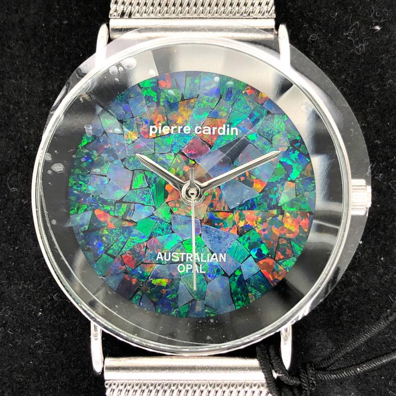 Original Unisex Silver Opal Watch Mosiac Opal - WO 13
