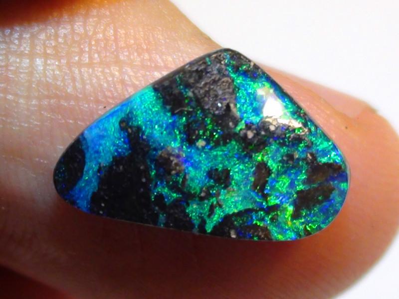 3.60 ct Beautiful Gem Blue Green Natural Queensland Boulder Opal
