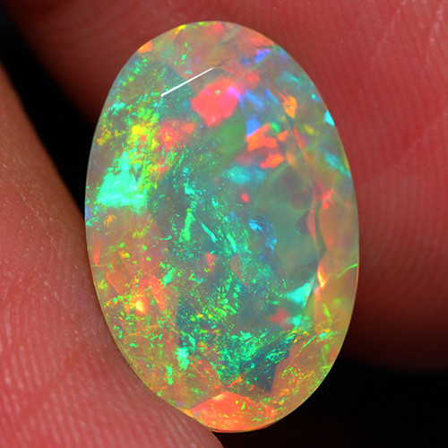 4.85 CT Extra Fine Quality Faceted Cut Ethiopian Opal -DF221