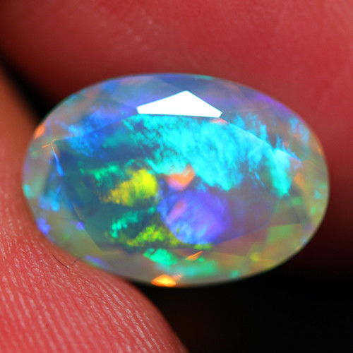 3.75 CT GALAXY PATTERN!! AAA Quality Faceted Cut Ethiopian Opal -DF230