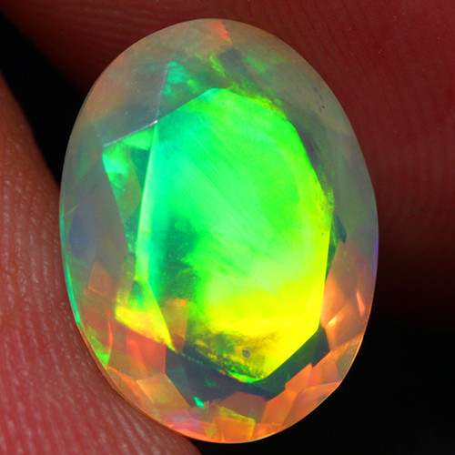 2.79 CT CONTRALUZ!! AAA Quality Faceted Cut Ethiopian Opal -DF241
