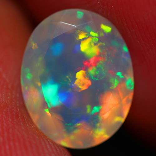 2.15 CT 11X9 MM Extra Fine Quality Faceted Cut Ethiopian Opal -DF250
