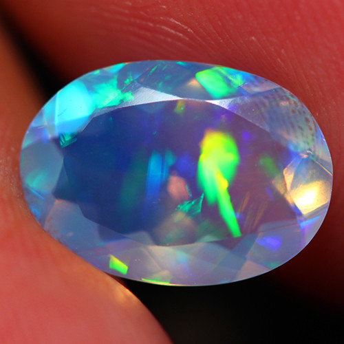 1.87 CT Extra Fine Quality Faceted Cut Ethiopian Opal -DF255