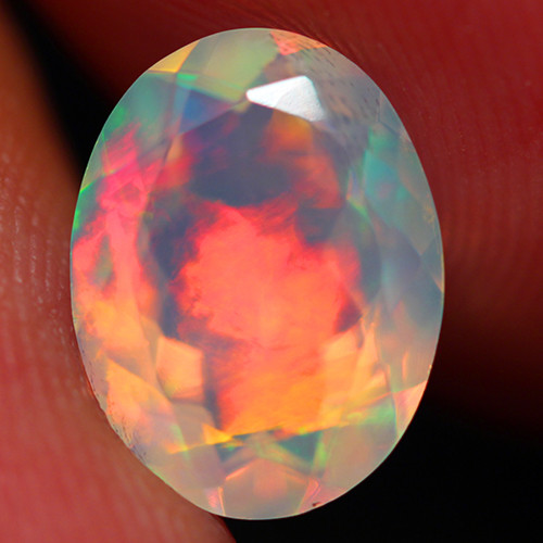1.70 CT Broadflash!! AAA Quality Faceted Cut Ethiopian Opal -DF256