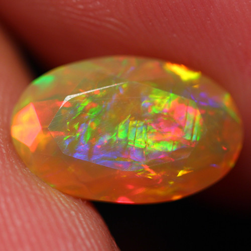 1.65 CT CHAFF PATTERN!! AAA Quality Faceted Cut Ethiopian Opal -DF257