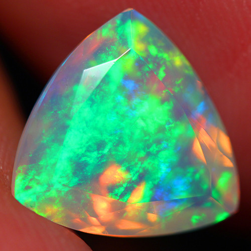 3.30 CT Extra Fine Quality Faceted Cut Ethiopian Opal -DF259