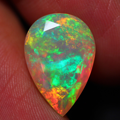 6.10 CT Extra Fine Quality Faceted Cut Ethiopian Opal -DF261