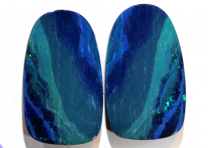 18.41 - CTS   OPAL DOUBLET   PAIR LO-5366