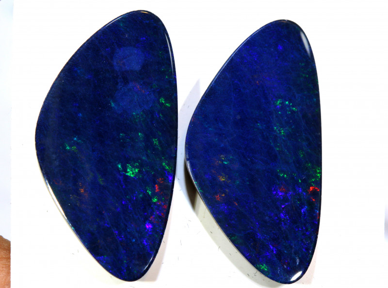 18.38 - CTS   OPAL DOUBLET   PAIR LO-5369