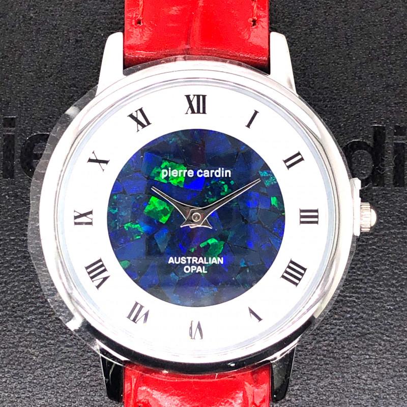 Original Red Ladies Silver Opal Watch Mosiac Opal - WO 31