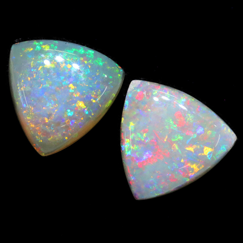 3.55CTS COOBER PEDY OPAL PAIR GREAT COLOUR PLAY  S1258
