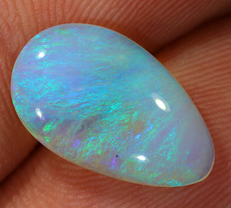 2.25ct 15x9mm Solid Lightning Ridge Crystal Opal [LO-1790]