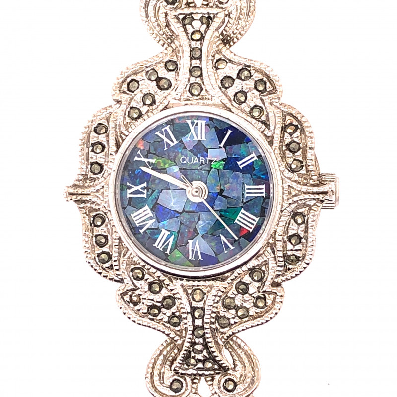 NEW ANTIQUE STYLE OPAL FIRE WATCH OPJ 2802