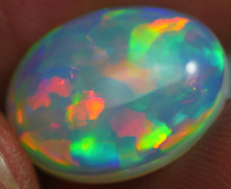 6.40 CRT BRILLIANT PATCHWORK PATTERN METTALIC COLOR WELO OPAL