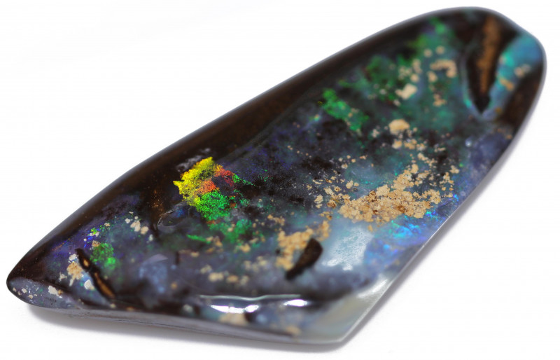 112.15 CTS WELL POLISHED BOULDER OPAL STONE-[SO4]