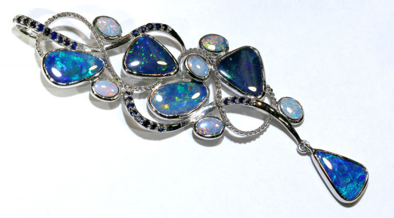 80.30 CTS   DOUBLET OPAL SILVER PENDENT OF-2622