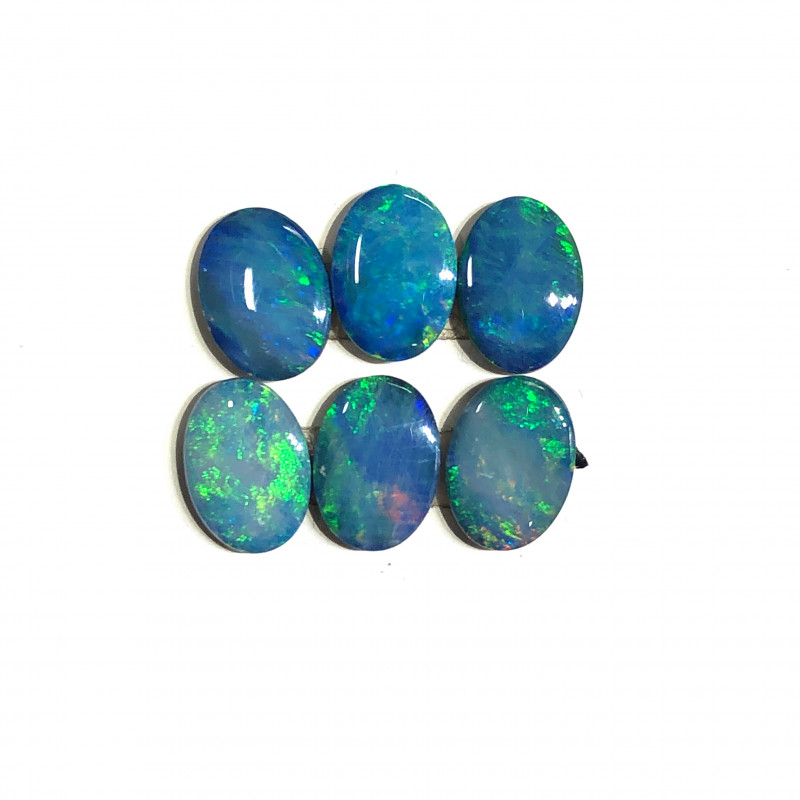 Australian  Opal doublets  6 PC     l 278