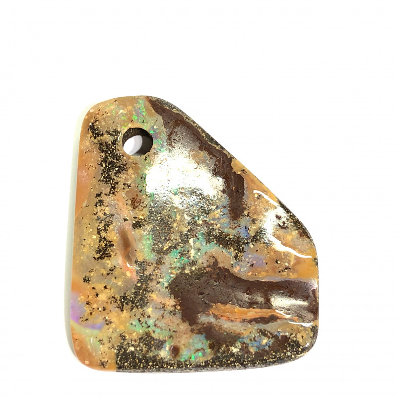 52 cts AmazingBoulder opal  hole drilled L 1107