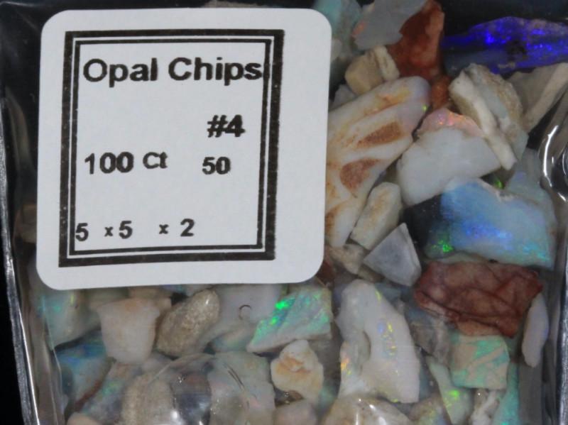 #9 Opal Chips-  5x5x2  NNOpalChips   - Lucky Dip    [24824]