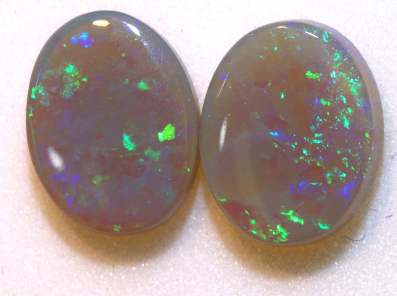N4 -2.35   -CTS   BLACK OPAL  POLISHED STONE  L. RIDGE PAIR TBO-10264