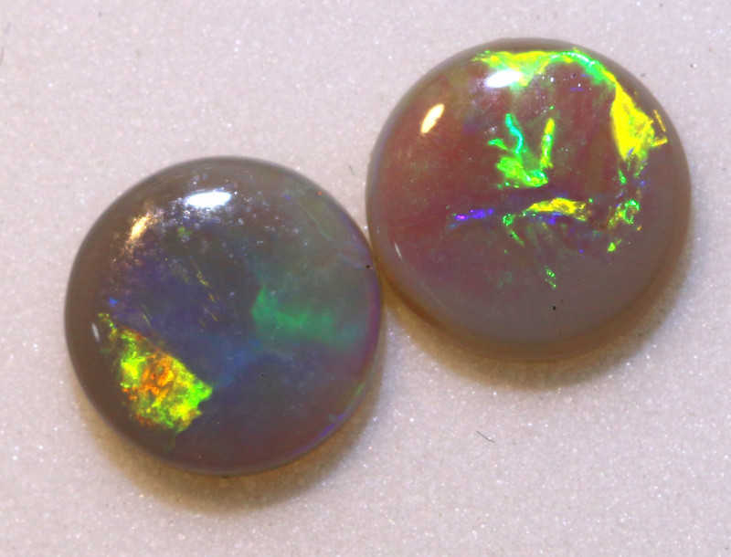 N5-1.25   CTS - DARK  OPAL POLISHED STONE L. RIDGE PAIR TBO-10277